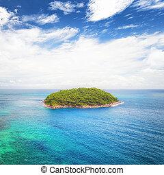 île tropicale, voyage, paysage, nature