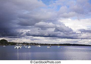 île, vancouver, yachts