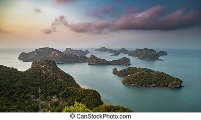 îles, mu, lanière, pittoresque, ang, ko, petit, parc marin