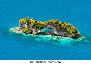 îles, palaos, au-dessus