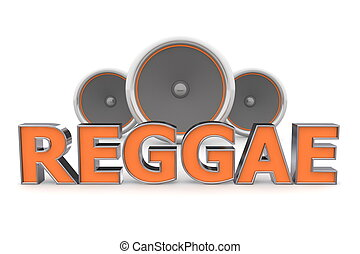 �, reggae, altavoces, naranja