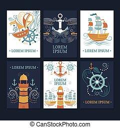 Ð¡ollection of marine cards.