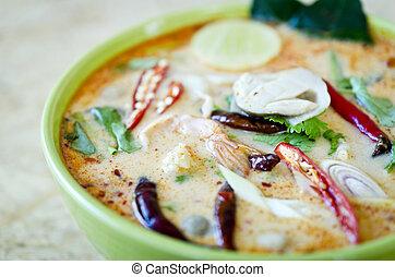 ñame, tom, cuisine), (thai, kung