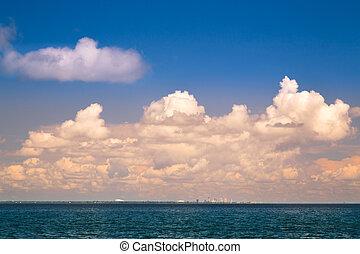 óceán, és, ég