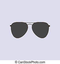 óculos, aviador, ícone