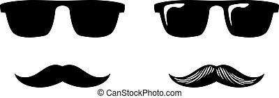 óculos, bigode, fraude, máscara, nariz