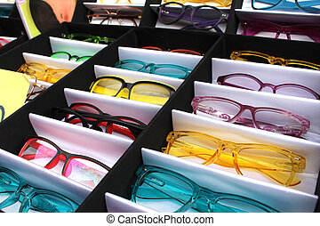 óculos, caixa