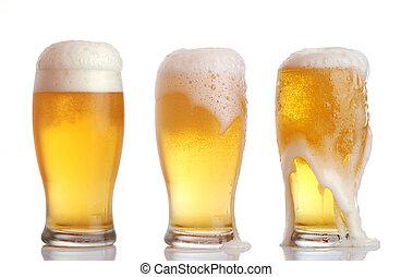 óculos, cerveja