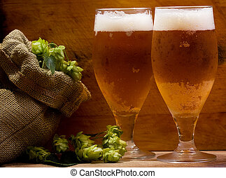 óculos, cerveja, vida