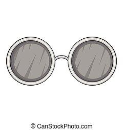 Jogo, cobrança, pretas, redondo, lentes, óculos. Diferente, jogo ... 394e052f65