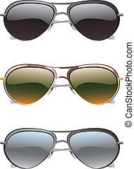 óculos de sol, ícones