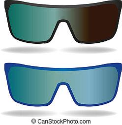 óculos de sol, jogo, óculos, vetorial