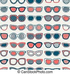 óculos de sol, seamless, fundo