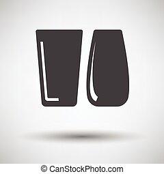 óculos, dois, ícone