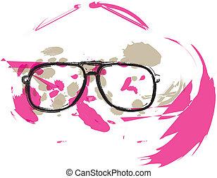 óculos, ilustração