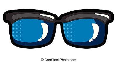 óculos, isolado, ícone
