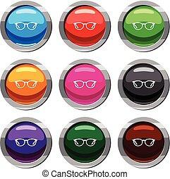 óculos, jogo, 9, cobrança