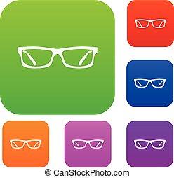 óculos olho, jogo, cobrança