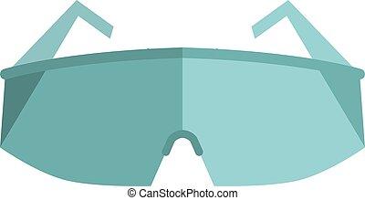 óculos, proteção olho, ilustração