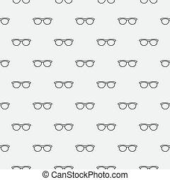 óculos, seamless, mínimo, padrão