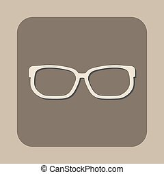 óculos, vetorial, ícone