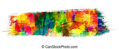 óleo, abstratos, apoplexia, freehand, quadro, desenho,...