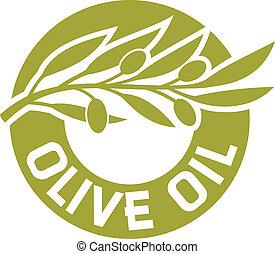 óleo, azeitona, etiqueta