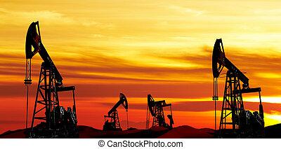 óleo, bombas