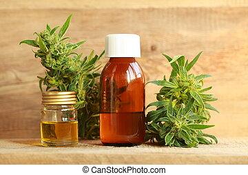óleo, cannabis, cânhamo