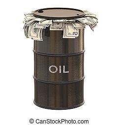 óleo, dólar