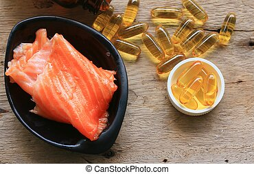 óleo de peixe, cápsulas