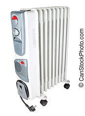 óleo, elétrico, indoor, experiência., branca, heater.