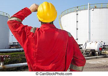 óleo, engenheiro