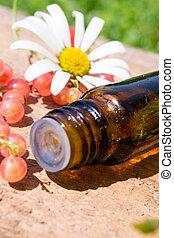 óleo essencial, com, groselhas vermelhas