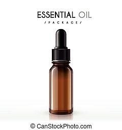 óleo, essencial, pacote