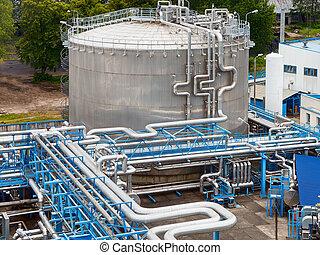 óleo gás, indústria
