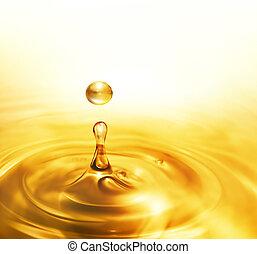 óleo, gotejando