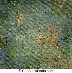 óleo, grunge, lona, pintado, fundo, textured, agradável
