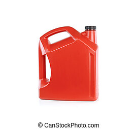 óleo, isolado, máquina, lata, fundo, branca