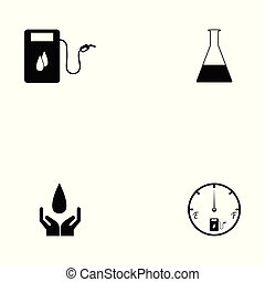 óleo, jogo, ícone