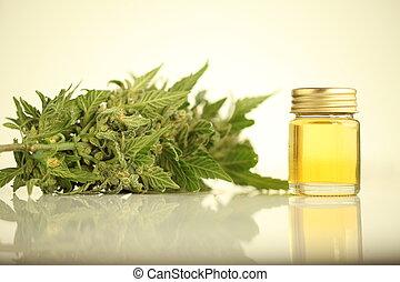 óleo, médico, cannabis, cbd, produto