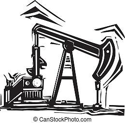 óleo, pumpjack