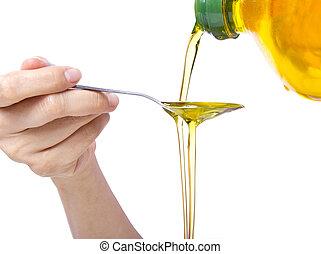 óleo, puxando