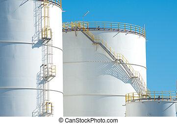 óleo, tanques