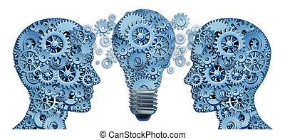 ólom, és, tanul, újítás, stratégia