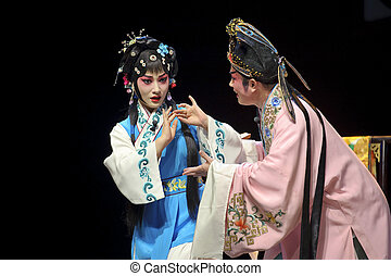 ópera, bastante, chino, actriz