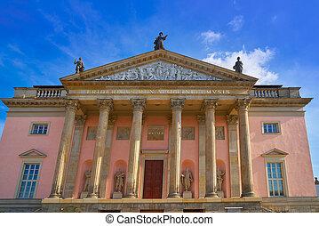 ópera, edificio, berlín, alemania, staatsoper
