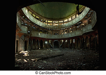 ópera, edificio, viejo