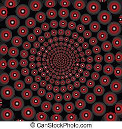 óptico, efecto, doted