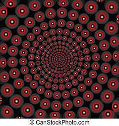 óptico, efeito, doted